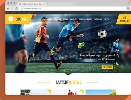 Bekijk een voorbeeld van de clubwebsite